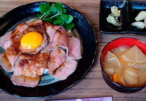 塩糀やわらか熟成肉ローストビーフ丼